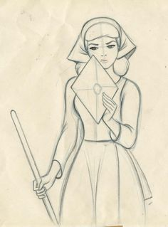 "scurviesdisneyblog: "" Cinderella animation drawing by Marc Davis (x) """