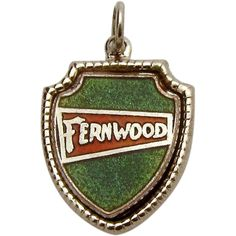 Vintage Sterling Silver Fernwood Resort and Hotel Bushkill, PA Charm from charmalier on Ruby Lane