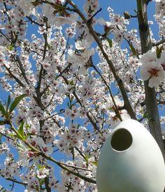 "porcelain bird house ""Hanami""  nido per uccelli in porcellana by AtelierGilet"