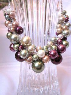 color pearl necklace - Buscar con Google