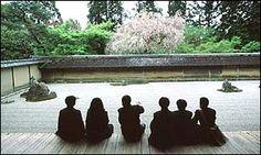 Ryoanji Temple garden in Kyoto. Zen garden secrets revealed.Ryoan-ji. Kyoto, Japan. Muromachi Period, Japan. c. 1480 C.E.; current design most likely dates to the 18th century. Rock garden.