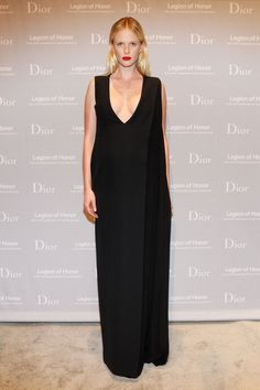 Pin for Later: Who Was Best Dressed in Dior? Anne Vyalitsyna The model exuded simple elegance in a floor-length silk and wool Dior dress.