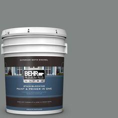 BEHR Premium Plus Ultra 5 gal. #PPU25-17 Euro Gray Satin Enamel Exterior Paint