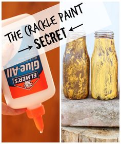 the secret to how to make crackle paint using Elmer's Glue