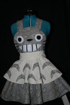 Totoro Apron Pinafore Cosplay  Different fabric by darlingarmy, $80.00