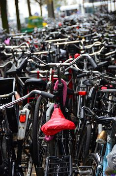 #Amsterdam, Holland, #bikes in the #city http://bit.ly/1m63hr8