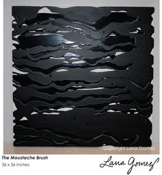 """The Moustache Brush"" 36""x36""  #Abstract #painting by #LanaGomez"