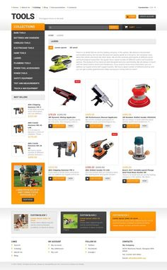 Tools & Equipment Responsive Shopify Theme E-commerce Templates, Shopify Themes, Home & Family, Tools & Equipment Templates