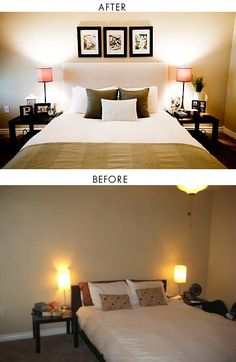 DIY - IKEA Malm Bed Heightened & Padded Headboard. Step-by-Step Tutorial. Lve this look we are actually thinking of buying the Malm bed from ikea!