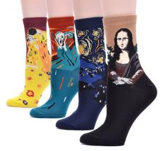 A four-pack of socks for art history enthusiasts.   21 Awesome Products From Amazon To Put On Your Wish List