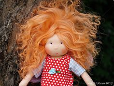 Look at the awesome hair on this doll!