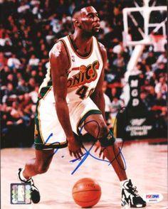 10247773f Shawn Kemp Autographed 8x10 Photo - PSA DNA  SportsMemorabilia   SeattleSupersonics