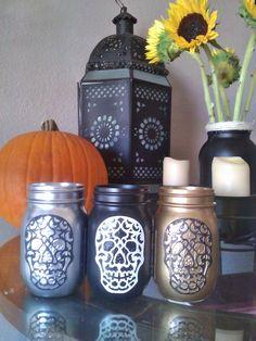 Mason Jar Skulls ~Christle's Creations
