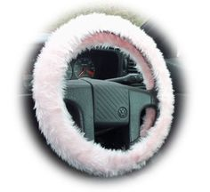(via Pretty Baby pink fuzzy furry car steering wheel cover cute...