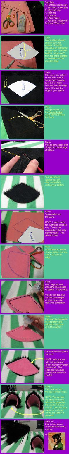 Make costume ears. :) Way better than my simple felt cat ears I made a few years back. :)
