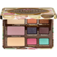 Too Faced Sugar Pop Eye Palette ($36) ❤ liked on Polyvore featuring beauty products, makeup, eye makeup, eyeshadow, beauty, palette eyeshadow and too faced cosmetics