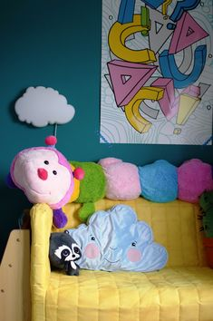 Perfect little touches for a cloud themed nursery or bedroom. all from Ikea in this toddler bedroom makeover
