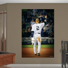 Derek Jeter Farewell Mural Fathead Wall Graphic | New York Yankees Wall Decal