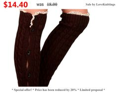 20deaa7380e0 Items similar to Brown leggings, lace openwork pattern and buttons,  knitting, black chocolate #KB8-05 on Etsy
