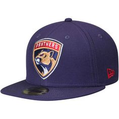 Florida Panthers New Era Team Color 59FIFTY Fitted Hat - Navy 4152deaf76d5