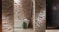 We have everything you need to create an elegant, spa-like wall of stone for your very own bathroom.