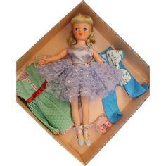 19 inch MINT in BOX Horsman Cindy Ballerina doll Cissy wannabee 1957 Original Tags