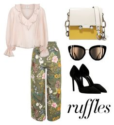 """""""Untitled #69"""" by hfirlyana on Polyvore featuring Topshop, Yves Saint Laurent, Marni, Chanel, ruffles and RuffLyfe"""