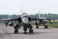 militaryarmament: One of the meanest looking jet fighters in the world, the SEPECAT Jaguar.