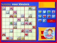 Maak sudoku's met kleuters op digibord of computer op kleuteridee, Kindergarten, educative games for IBW or computer
