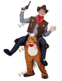 carry me piggy back mascot horse fancy dress costume stag animal farm cowboy halloween costume storesunique - Stores With Halloween Costumes Near Me