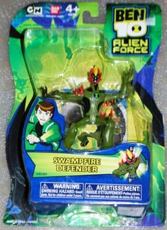 Ben 10 Alien Force 4 Inch Action Figure Swampfire DEFENDER NO TRANSLUCENT MINI ALIEN By Bandai Toys 599 Ages And Up Approx