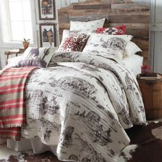 Tumbleweed Trail Quilt - Bedding - New Arrivals Rustic Bedroom Design, Rustic Master Bedroom, Room Decor Bedroom, Bedroom Furniture, Master Bedrooms, Bedroom Designs, Little Boy Bedroom Ideas, Padded Wall, Quilt Bedding