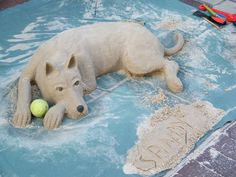 Sandy the Dog Sand Sculpture