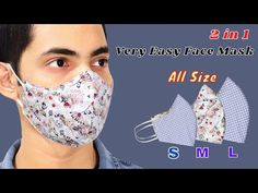 Easy Face Masks, Diy Face Mask, Mascarillas Peel Off, Sewing Tutorials, Sewing Projects, Mascara 3d, Sewing Headbands, Tapas, 3d Face