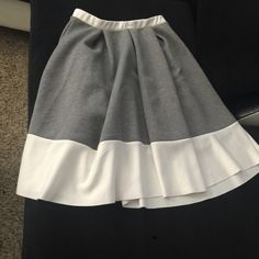 Gray and white Aline Pleated Skirt! Like new only worn once! Grey and white with no snags, stains or tears! Charlotte Russe Skirts A-Line or Full
