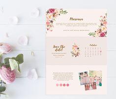 manual/convite para padrinhos floral - arte digital