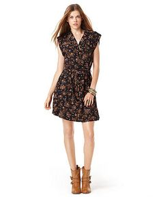 American Rag Juniors Dress, Short Sleeve Belted Printed - Juniors Dresses - Macy's