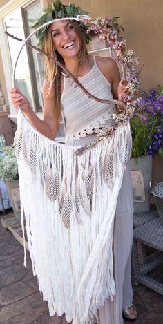 Bohemian dream catcher from a French Country Bohemian Bridal Shower via Kara's Party Ideas | KarasPartyIdeas.com (7)
