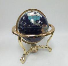 shopgoodwill.com: Semi Precious Stone Inlaid Globe