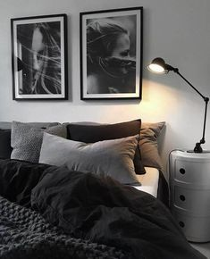 gray bedroom walls, gray bedroom design ideas you want … – cozy home warm Black And Grey Bedroom, Grey Bedroom Design, Grey Bedroom With Pop Of Color, Bedroom Colors, Home Decor Bedroom, Bedroom Furniture, Bedroom Designs, Wood Furniture, Furniture Stores