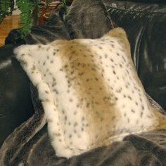 Lynx Jacquard Animal Print Faux Fur Pillow Cushion Cover  Order at http://amzn.com/dp/B000IMLLWG/?tag=trendjogja-20