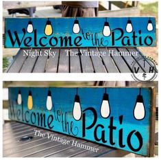 Check out our newest creation! 3 FEET WIDE and all hand painted on solid wood! NO CRICUT OR PEEL AND STICK VINYL! Available in many colors and as. Get your order placed today. These will be listed in minimum quantities. Patio Signs, Pool Signs, Outdoor Signs, Outdoor Decor, Bbq Signs, Outdoor Crafts, Rustic Signs, Wooden Signs, Painted Signs