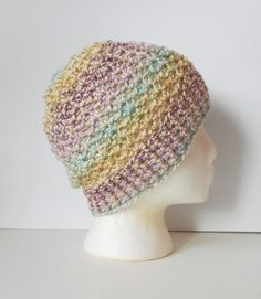 a621033762a Lacy Skullcap Beanie Hat in Spring Medley ready to by luvbuzz