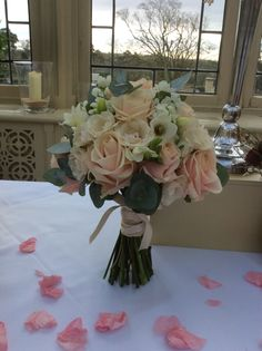 Wedding flowers @ kilworth house # Leicester softest pink roses freesia