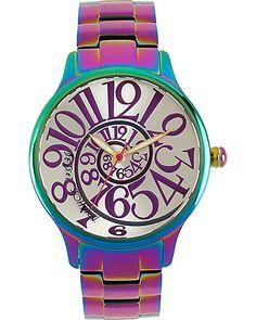 IRIDESCENT WATCH MULTI accessories jewelry watches fashion