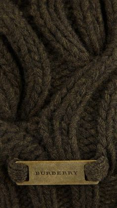 Burberry wool in brown Beige, Gray, Chocolate Brown, Warm And Cozy, Earthy, Favorite Color, Fancy, My Style, Cable Knit