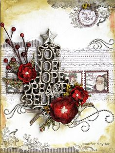 Christmas Canvas - ZVA Creative - Scrapbook.com