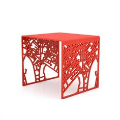 You Are Here London Stool Red