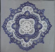 Sue Hanson's Tatting Patterns. Robert found the actual pattern at http://home.vicnet.net.au/~castats/Doilies.html