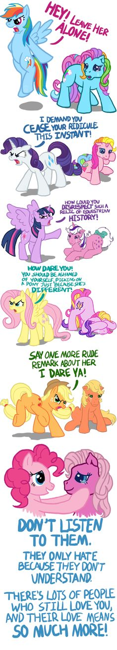 Don't be a hater on old gen ponies.